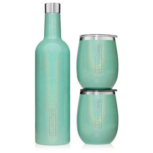 Winesulator Set Glitter Aqua