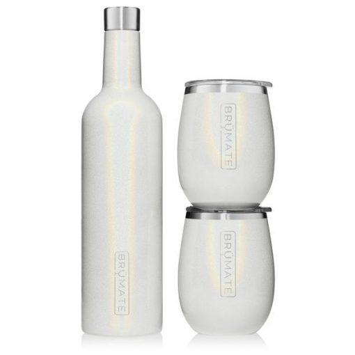 Winesulator Set Glitter White