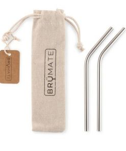 stainless steel reusable wine straws