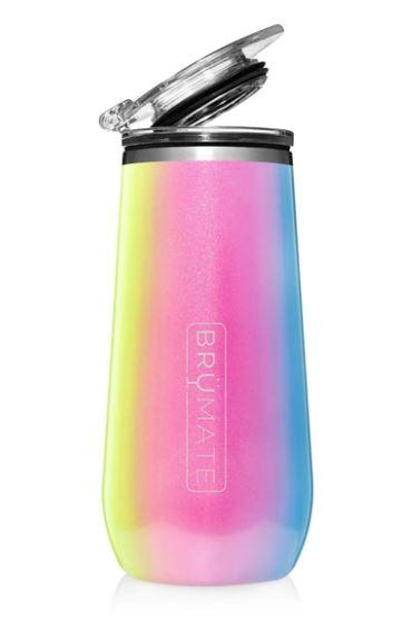 Champagne Flute - Glitter Rainbow